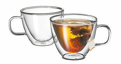 NEW Avanti Sienna Twin Wall Glass Set - 2 Piece - Tea Coffee SAVE