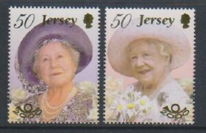 Jersey - 2000, Queen Mother's 100th Birthday set - MNH - SG 959/60