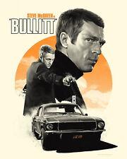 Steve McQueen - Bullitt Movie Poster, 8x10 Color Photo