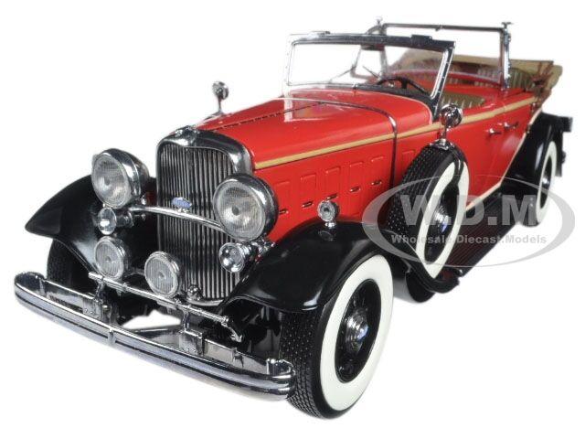 1932 ford lincoln kb oben rot 1   18 ein diecast modell - auto von sunstar 6166