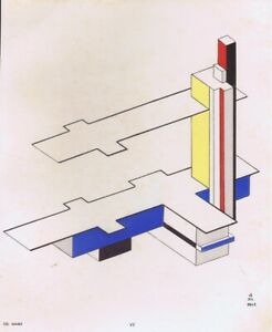 Felix-Del-Marle-Pochoir-Print-Abstract-Plate-VII-1952-From-Rare-Portfolio