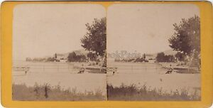 Suisse Vevey Stereo Stereoview Vintage Albumina Ca 1870