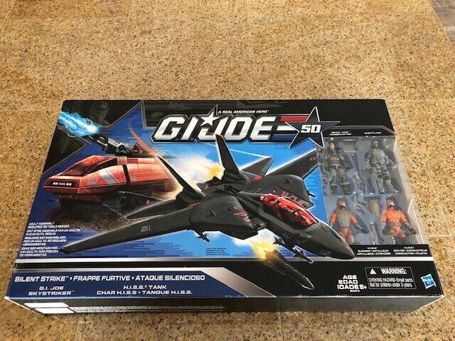 GI Joe Hasbro 50th Silent Strike Vehicle Set HISS Skystriker Sightline New MISB