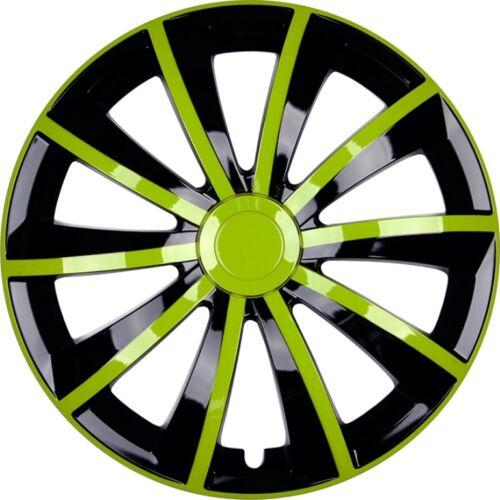 4x premium Design tapacubos radzierblenden cegar Grial 15 pulgadas #79 verde negro
