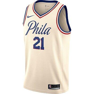 pretty nice f85d0 c8116 New Nike Joel Embiid Philadelphia 76ers #21 City Edition ...