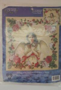 Candamar-Tidings-of-Joy-Angel-Picture-Pillow-Embellished-Cross-Stitch-Kit-5142