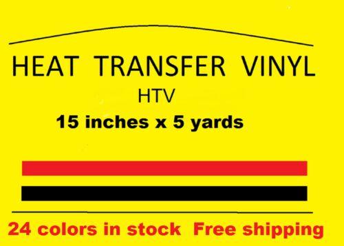"Heat Transfer vinyl white 15 /"" x 5 yards  Brand new Material HTV Free Shipping"