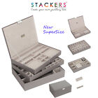 SUPERSIZE Stackers Jewellery Boxes Trays - or Choose Your Own Set NEW LARGE SIZE
