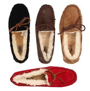 Autentici-UGG-Donna-Dakota-Pantofole-Nero-Chestnut-Espresso-Scamosciata-Casual-Scarpe