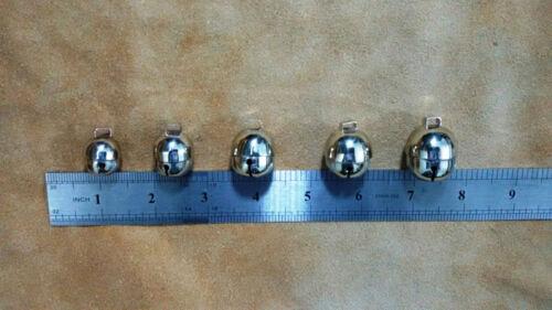 Falconry CAMPANE CON CLIP A MOLLA Libero Argento Cromato Acorn Bells tutte le dimensioni