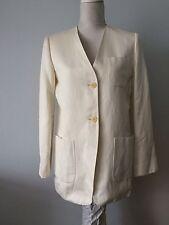 Max Mara Made In Italy Blazer Jacket Uk 10-12 Cotton Linen