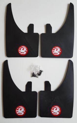 Accesorios Set Completo De 4 Ajuste Universal Nuevo OPEL mudflaps Rojo