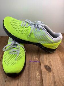 Nike Metcon DSX Flyknit Volt/Pure Platinum/Black/Ghost Green sz 11.5  852930-701