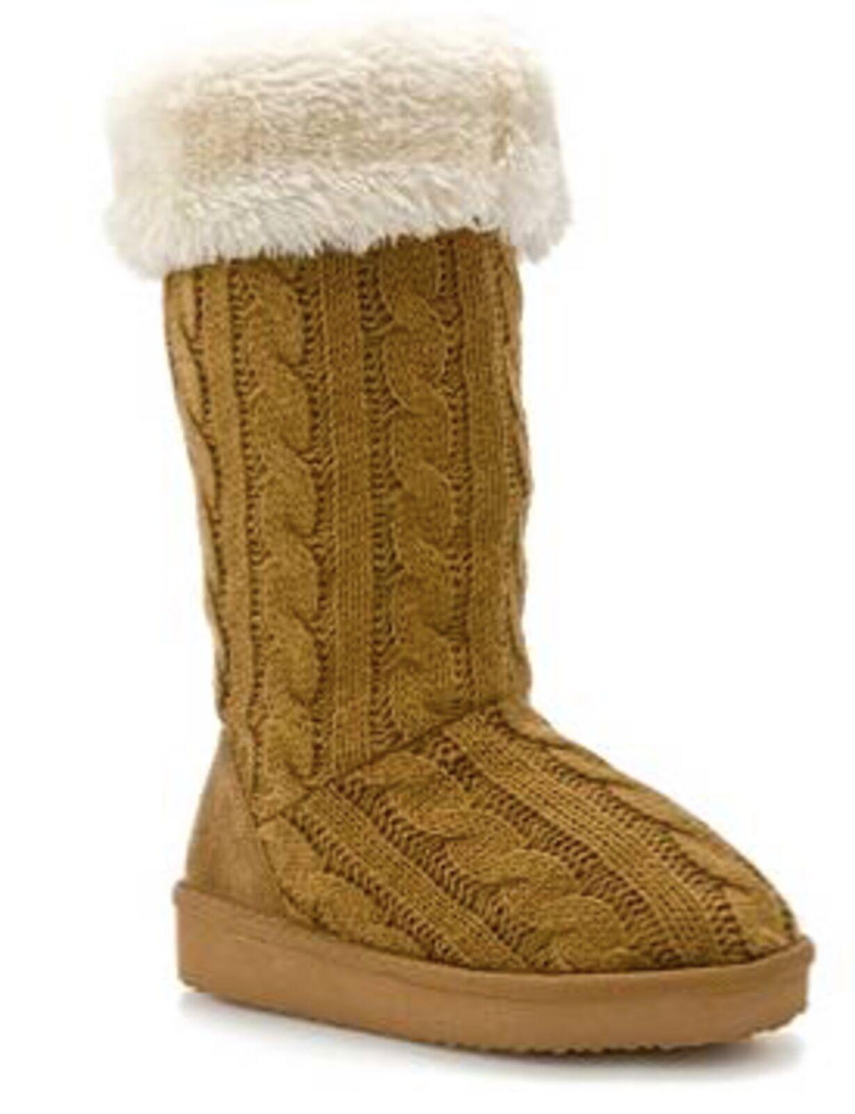 Cozy Knit Stiefel Größe 11 Boot Tan Rocket Dog Flight Boot 11 Faux Fur Lined Cuff Sweater 968009