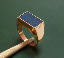 Massiver alter 585er Gold Art Déco HERREN-SIEGELRING m. LAPISLAZULI • 8,55 g
