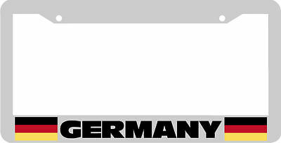 Germany German Flag plastic chrome plated Car License plate frame TB