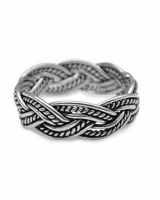 Sterling Silver Fitted Toe Ring Jewelry & Watches Toe Rings Woven Braid