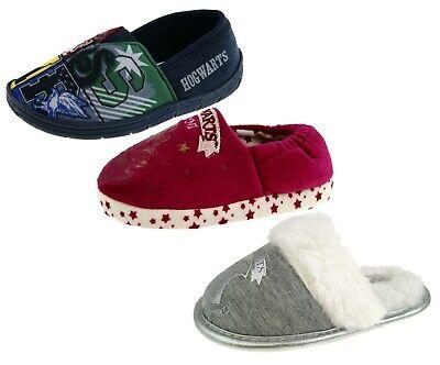 Harry Potter Kids Slippers Hogwarts Crest Childs House Shoe