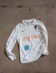 43dc444278f Nike x Off-White Mon Amour Home Soccer Football Jersey White NWT Sz ...