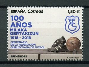 Spain-2019-MNH-Federacion-Guipuzcoana-de-Futbol-1v-Set-Football-Soccer-Stamps