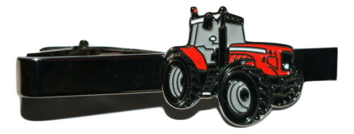 Tractor Rojo Clip de Corbata Novedad Traje de esmalte de cultivo Bolsa De Regalo Inc