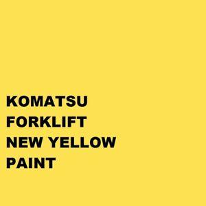 KOMATSU FORKLIFT NEW YELLOW Paint Machinery Enamel paint Brush or Spray 1000ml