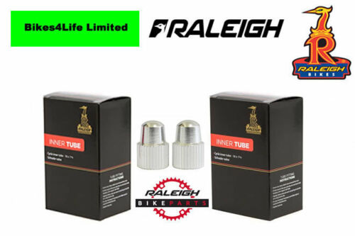 2 Raleigh Bike Inner Tubes 27.5 x 1.95//2.1 Schrader Valve Free Alloy Valve Cap