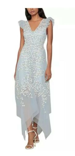 Bcbgmaxazria- Embroidered Tulle Ruffle Dress . Siz