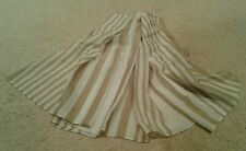 Brown & white striped scarf