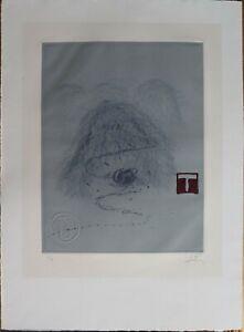 Antoni Tapies -Grabado gofrado y con relieve- firmado y numerado por el artista