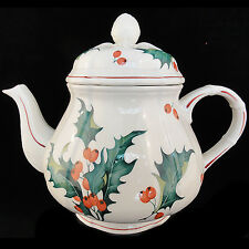 """HOLLY Villeroy & Boch TEA POT 6.5"""" tall NEW NEVER USED made in Luxembourg"""
