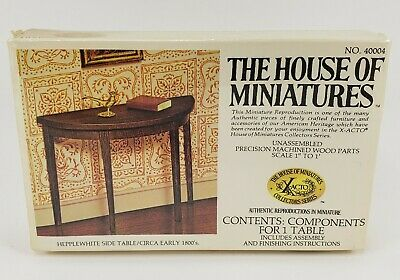 The House of Miniatures number 40004 Kit one inch scale 1:12Dollhouse Furniture Hepplewhite side table early 1800s