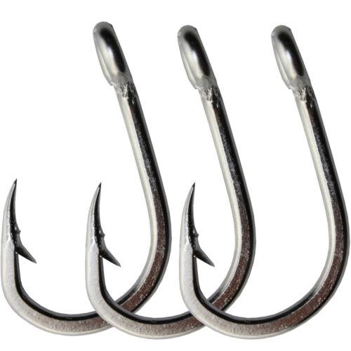 40Pcs Big Game Stainless Steel Fishing Hooks 10884 Saltwater Fish Hook 5//0-10//0