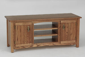 #977 Solid Wood Oak Mission TV Stand