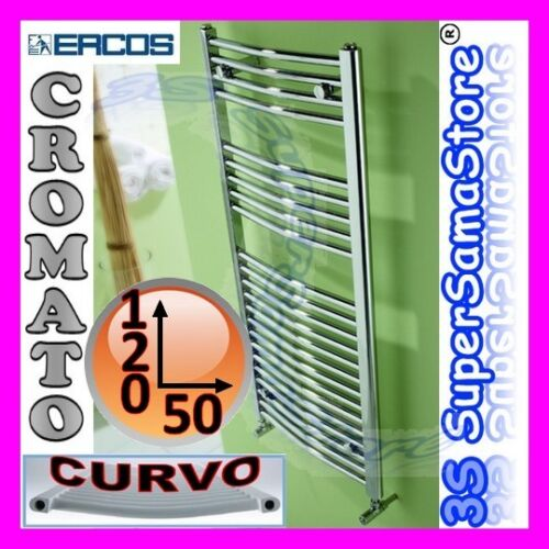 3S SCALDASALVIETTE 120 x 50 cm CROMO CURVO CALORIFERO BAGNO DESIGN TEKNO ERCOS