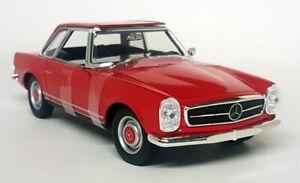 NEX-1-24-Scale-1963-Mercedes-Benz-230SL-Pagoda-Red-W113-Diecast-model-car