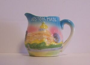 Boston-Creamer-Pitcher-Souvenir-Massachusetts-Capital-Nanco-Japan-Vintage