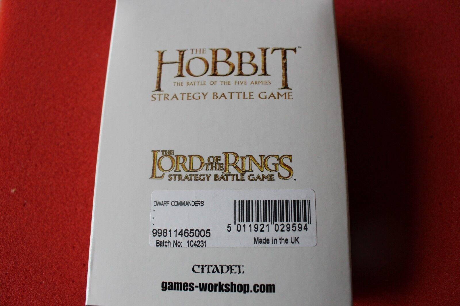 Games Workshop LoTR Dwarf Commanders Lord of the Rings New NIB 4 Dwarves Figures
