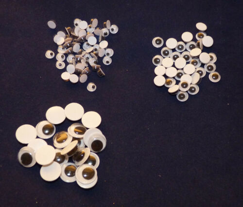 20//50//100//250 PLASTIC WIBBLY WOBBLY GOOGLY EYES 5 //6//10MM # TOY MAKING//CRAFTS