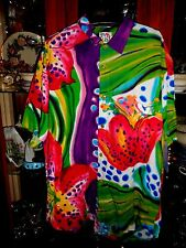 Jams World  FAB L Shirt Gloriosa BEACH New NWT Hawaiian Aloha Floral Bar mens