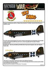 Kits World Decals 1/72 DOUGLAS C-47 SKYTRAIN Betsy's Biscuit Bomber & Sky King