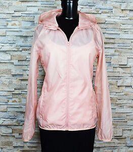 Details zu Neu C&A Damen leichte Sport Jacke Windbreaker mit Kapuze rosa Gr. S, L, XL