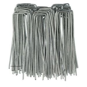 10 x METAL GROUND PEGS Pins Staples Control Fabric Camping Tent Steel Pegs GEM