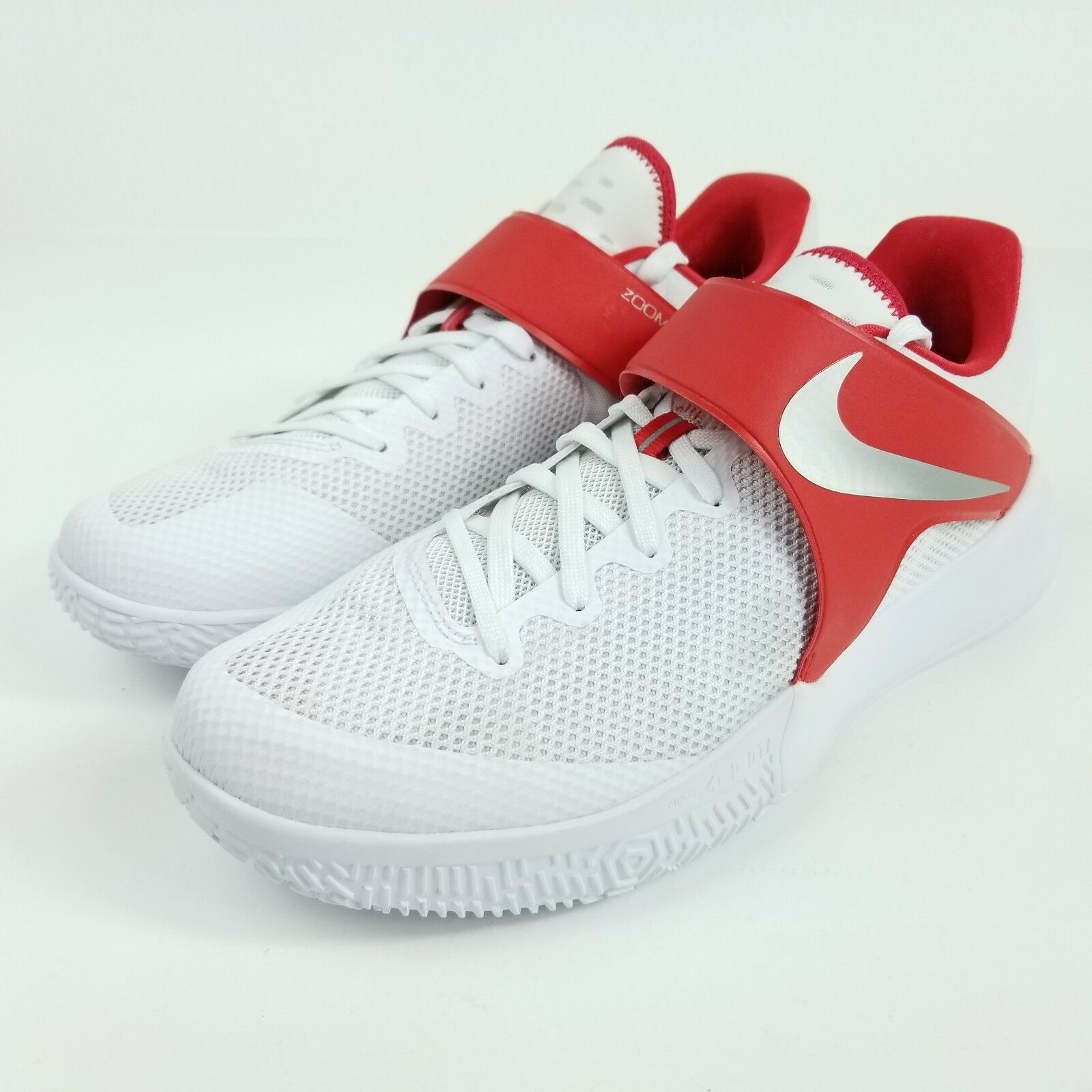 NIKE Zoom Live TB Promo Mens Sz 13.5 Shoes White Red 902590 160