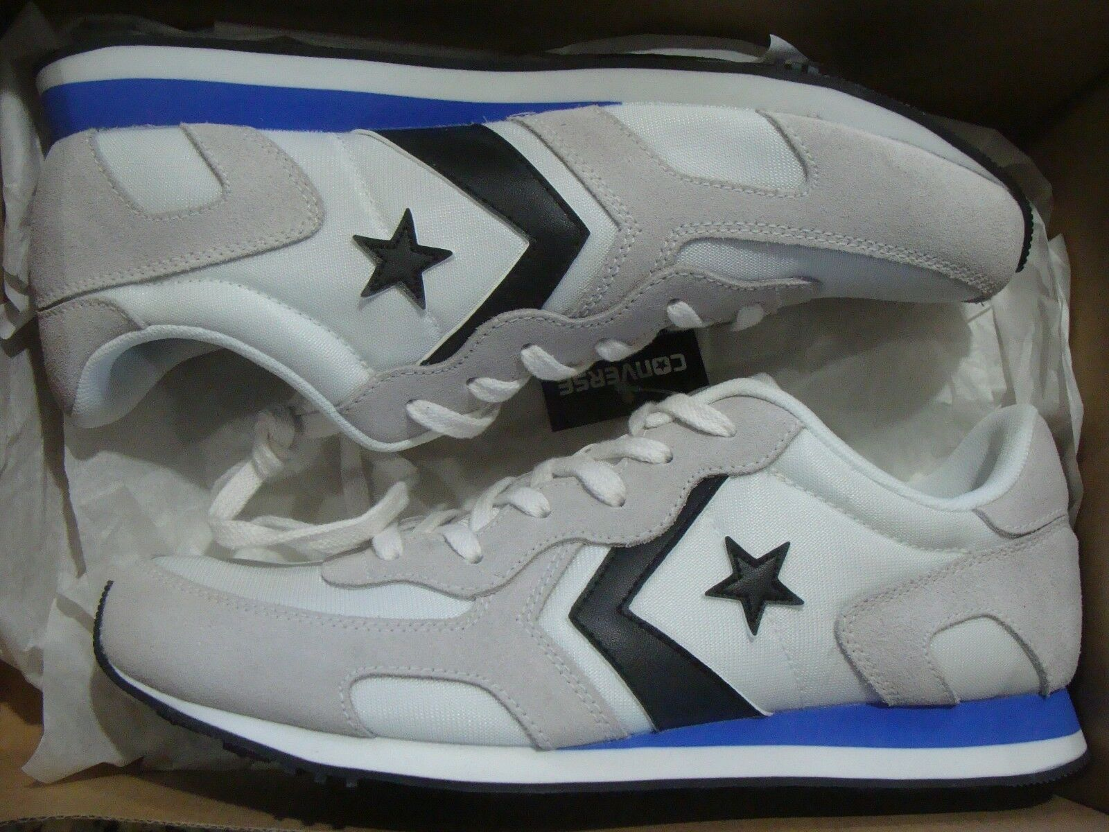 Men's Converse Thunderbolt Ox White/Hyper Royal/Black 159765C Size 6.5~13