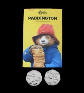 2018 Uncirculated Paddington Bear 50p Fifty Pence Coins Full Set Available