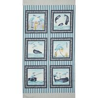 "23"" Fabric Panel - Studio E Barnacle Bay Nautical Beach Wallhanging Blue"