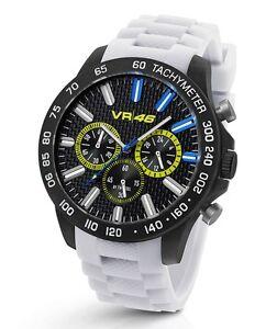 TW-Steel-Valentino-Rossi-VR-46-45mm-White-Strap-Chronograph-Watch-VR116