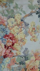 6-yards-FABRIC-QUALITY-TEXOPRINT-Pale-Blue-Floral-Scotchguard-Treated-419-25935