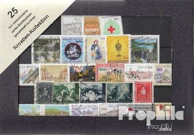 Other European Stamps Stamps Ambitious Croacia 25 Diferentes Sellos